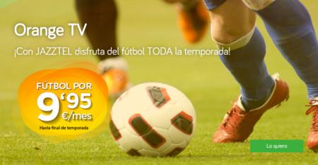 El paquete completo de fútbol con Jazztel costará 14,95 euros