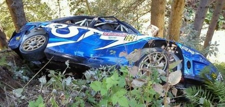 La salida de pista de Robert Kubica completa un surrealista Rally San Martino di Castrozza