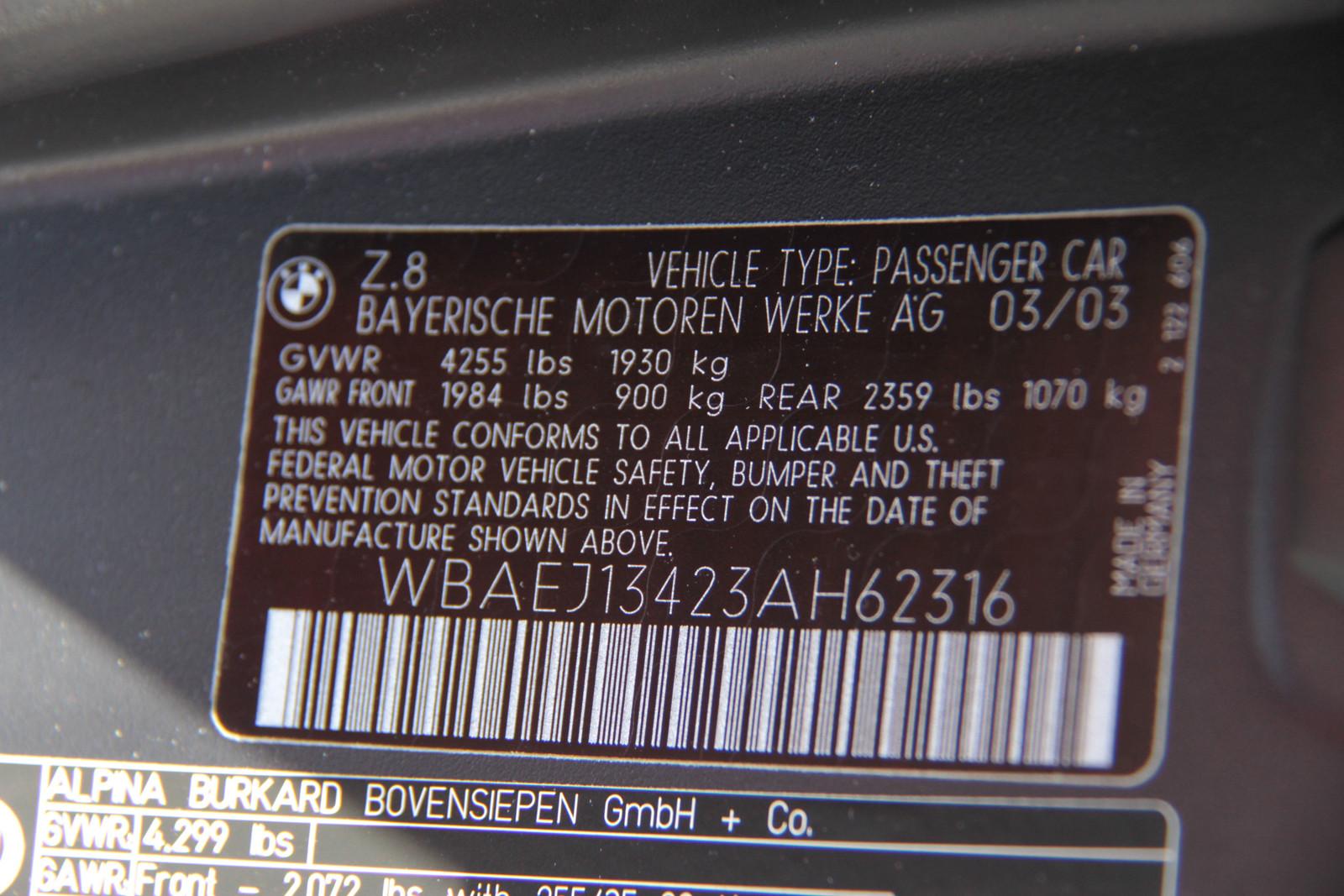 Foto de BMW Z8 Alpina (subasta) (36/38)