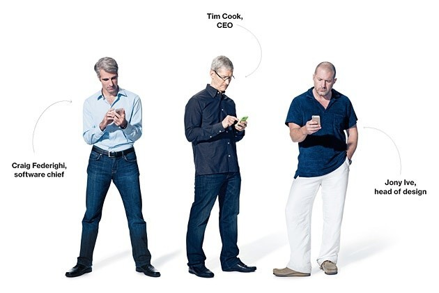 jonathan ive jony tim cook craig federighi apple bloomberg