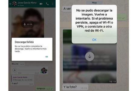 [actualizado: ya funciona] Un problema en WhatsApp no deja descargar fotos, vídeos ni audios