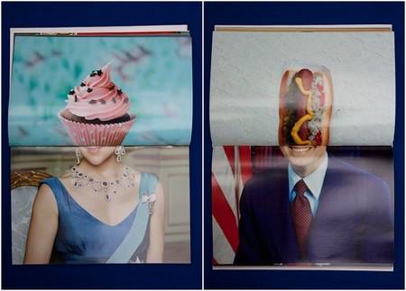 Aude Debout y sus composiciones fotográficas con alimentos, personas y objetos