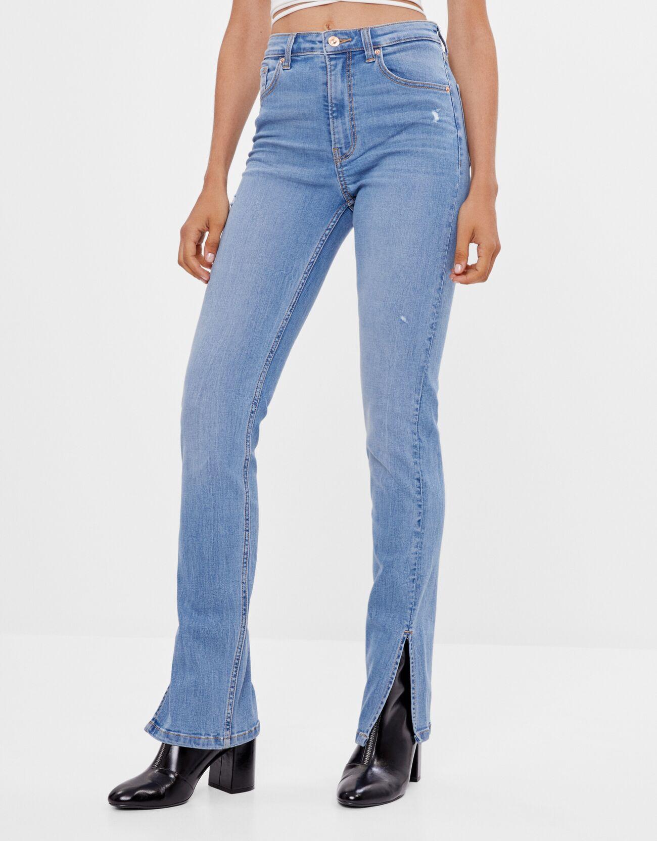 Jeans Skinny abertura.