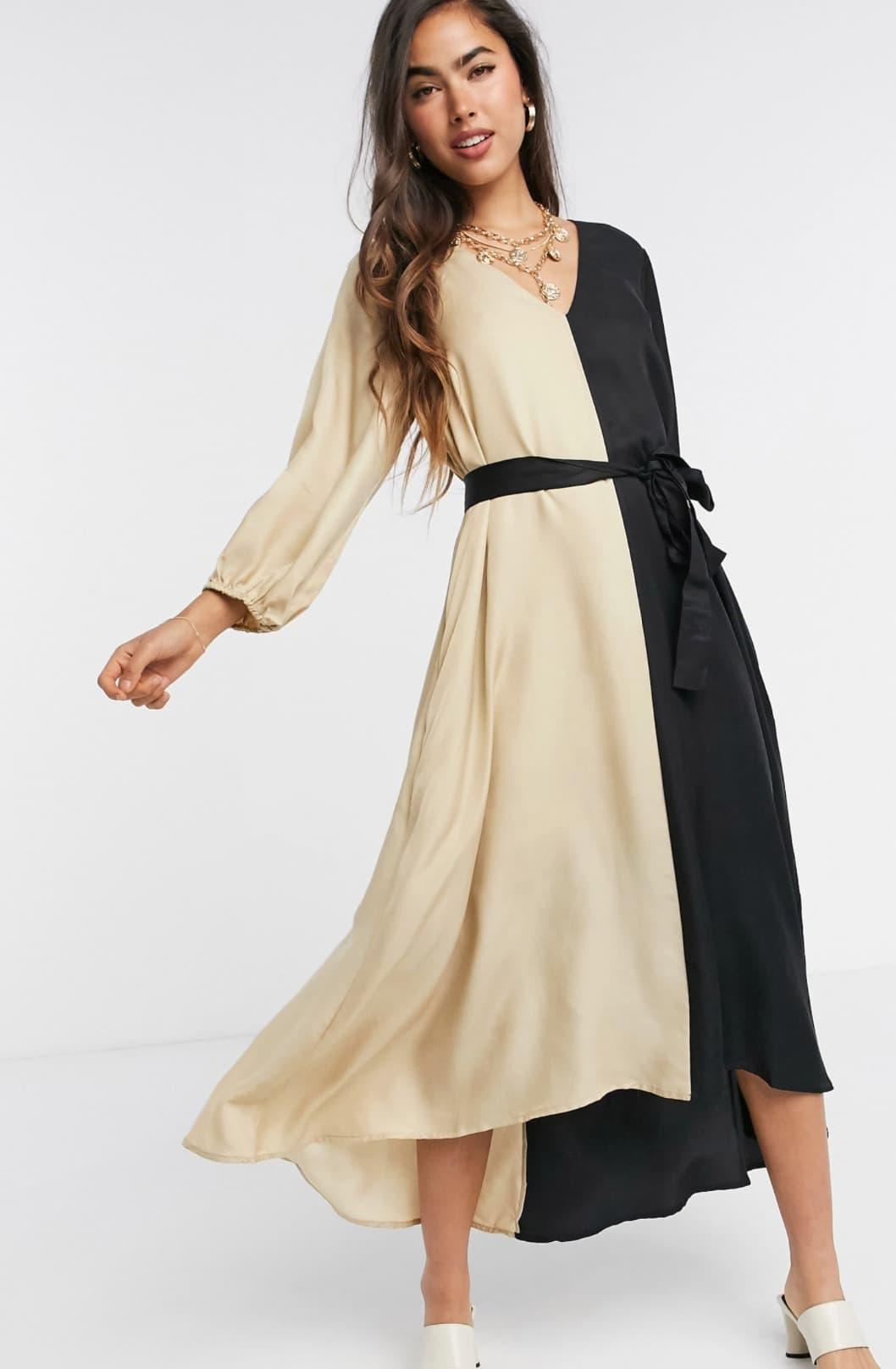 Vestido holgado con diseño en contraste monocromático Lorah de Gestuz