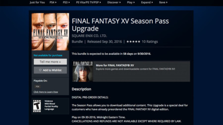 Final Fantasy Xv Pase De Temporada