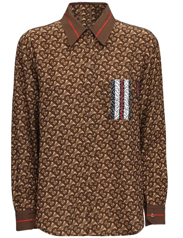 Camisa con diseño retro y estampado logomanía de Burberry