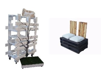 Muebles hechos con palés en Habitat Valencia