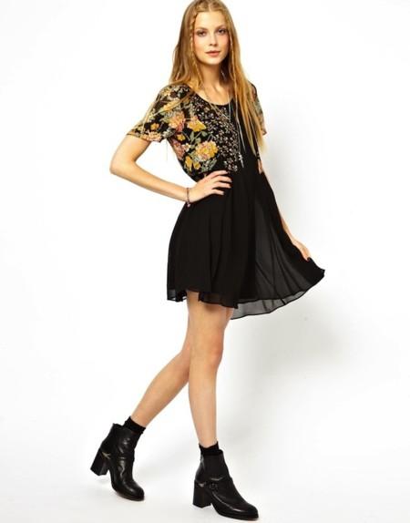 vestido grunge