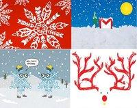 Tarjetas de Navidad para imprimir de Google