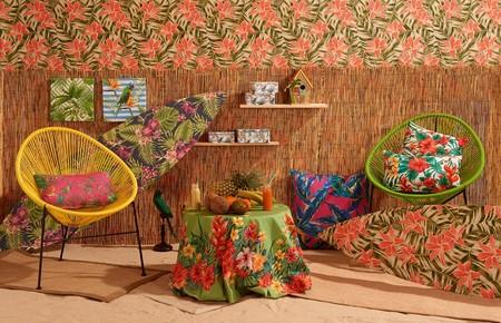 Motivos vegetales, hojas, ratán, bambú... Así es la nueva colección tropical de Leroy Merlín
