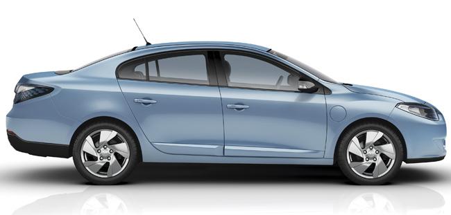 Renault Fluence Z.E. azul hielo