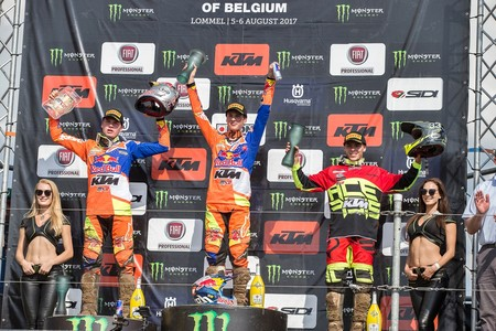 Mx2 Podium At Lommel