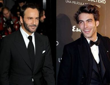 Tom Ford y Jon Kortajarena en la premiere de 'A Single Man' en Madrid