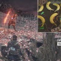 Un tipo se pasa Dark Souls 3 jugando con plátanos en lugar de mandos... y solo le matan 63 veces