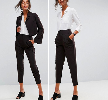 Pantalon Negro Asos