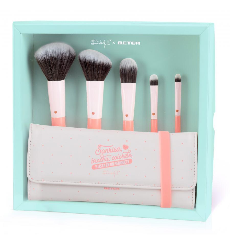 Set de brochas de maquillaje Mr. WonderfulxBeter