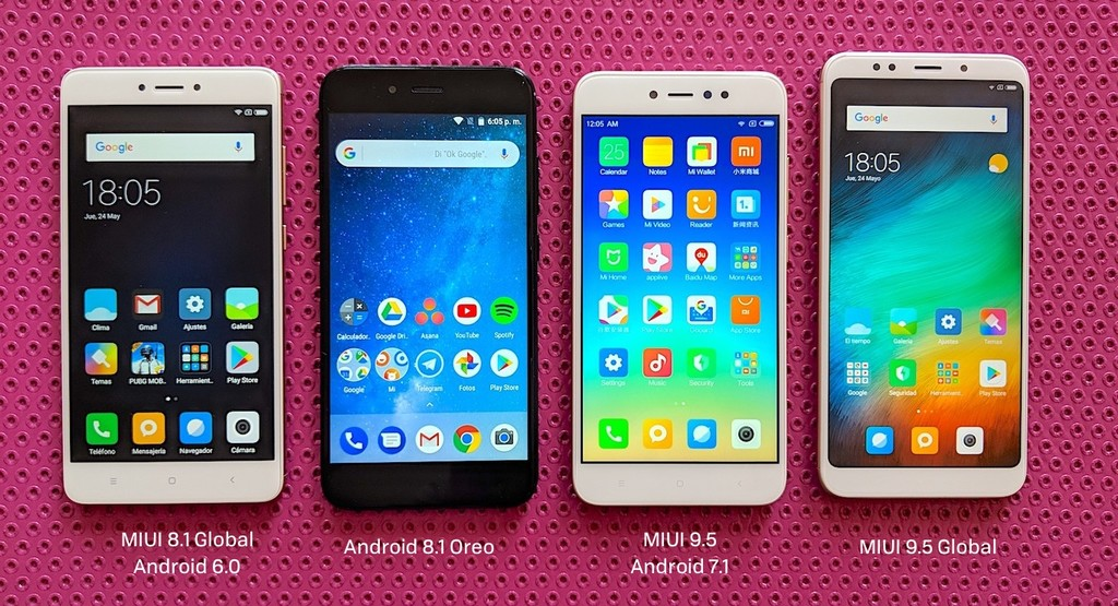 Comparativa Software Miui Android