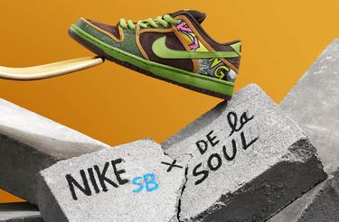 Nike reinterpreta los sneakers De La Soul Dunk desde una perspectiva...con más altura