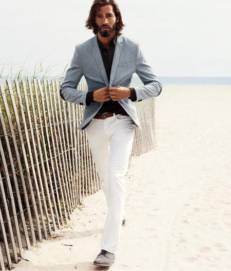 H&M color crudo pantalon