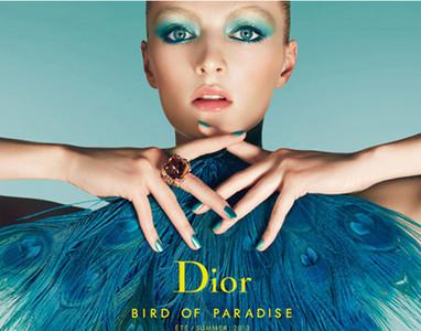 """""""Bird of Paradise"""" por Daria Strokous para Dior Cosmetics"""