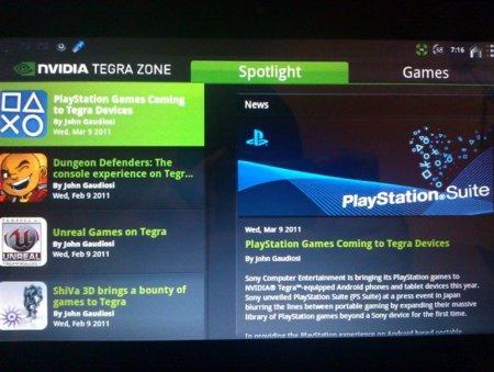 Playstation Nvidia Tegra 2