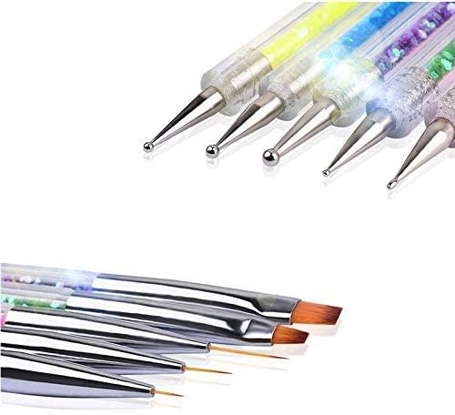 Pincel para arte de uñas Nail Art Arte Diseño Dotting Pen Cepillo uñas pinceles para decoración de uñas