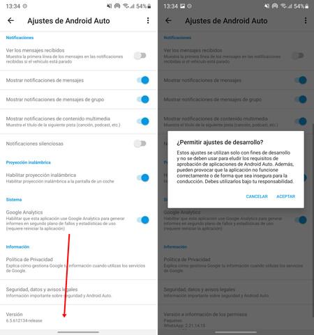 Captura Pantalla Android Auto