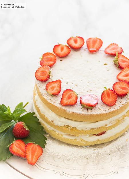 Victoria Sponge Cake con fresas