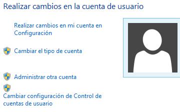 Panel de control cuentas de usuario 4