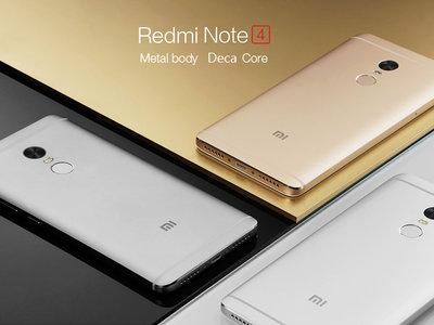Venta Flash: Xiaomi Redmi Note 4 de 64GB por 178,55 euros