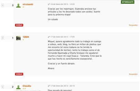 Comentarios Nuevo Diario del viajero