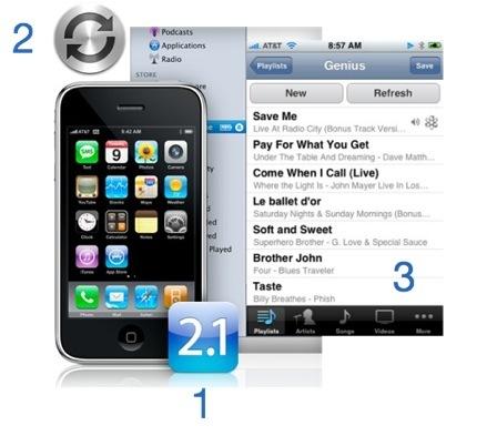 Ya tengo mi iPhone con la 2.1, ahora ¿Dónde están las listas genius?