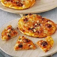 Mini pizzas de calabaza con queso azul y sobrasada: receta fácil ideal para variar los sabores típicos