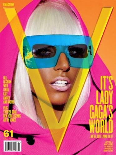 Lady Gaga en el editorial de V II