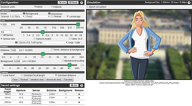 Bokeh/DOF calculator: una aplicación valiosa y gratuita para calcular la profundidad de campo
