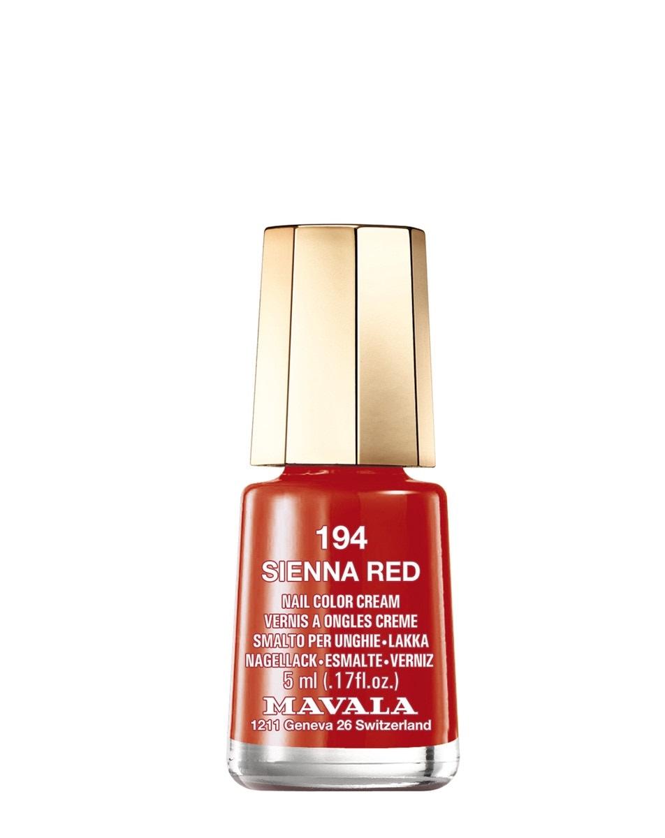 Laca de uñas en tono rojo Sienna de Mavala