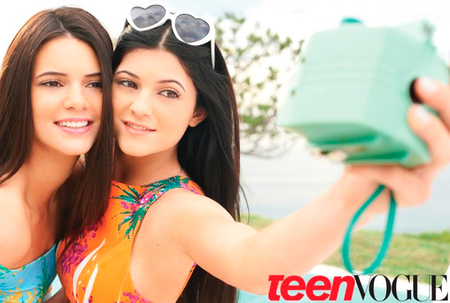 Kendall y Kyle Jenner en Teen Vogue