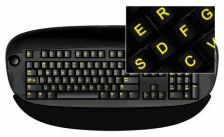 Glowing Keyboard Stickers, letras adhesivas y luminosas para el teclado