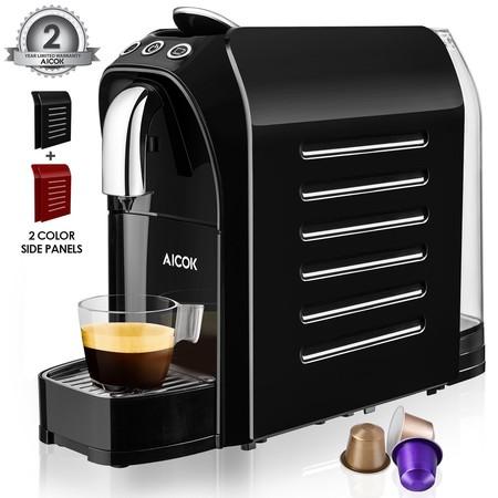 Cupón de descuento de 22 euros en la cafetera de capsulas tipo Nespresso de Aicok: al aplicarlo cuesta 45,99 euros en Amazon