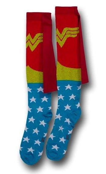 Los calcetines de Wonder Woman, con capa: sencillamente increíbles