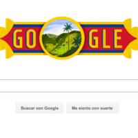 Google se une a la celebración del 'Día de la Independencia' en Colombia con su doodle