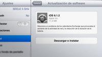 Apple lanza iOS 6.1.2 para corregir los problemas de sincronización con Exchange