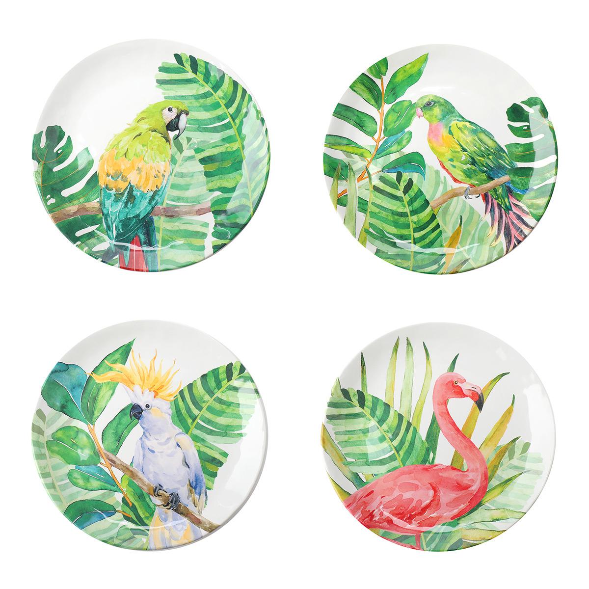 Set de cuatro platos tropicales El Corte Inglés