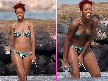 Tremendo pistolón se ha marcado Rihanna