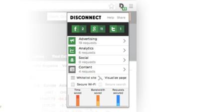 Disconnect 2 impide que terceros persigan tus datos cuando navegas