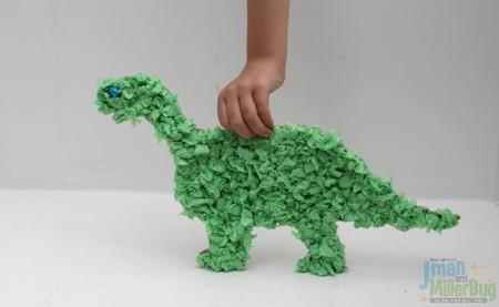 Manualidades Dinosaurios Papel Seda