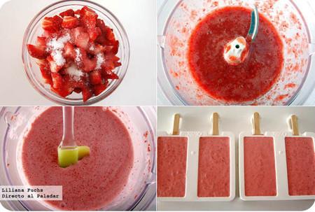 Como se hace helado de fresas
