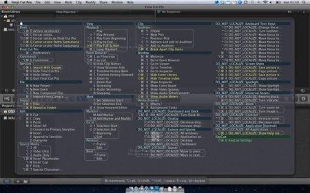 Atajos de teclado para Final Cut Pro X, tres opciones para que no se te olviden
