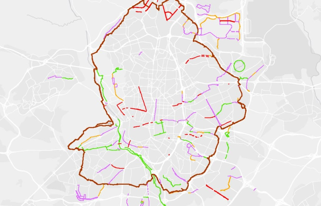 Mapa Vias Patinetes Electricos