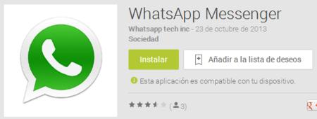 Mismo nombre, mismo logo pero no es el WhatsApp real